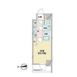 アステリ鶴舞ディオ 12階1Kの間取り