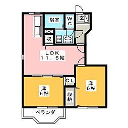 ボヌール C棟[1階]の間取り