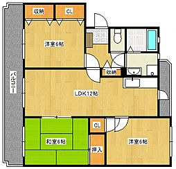 ファミール合川3番館[3階]の間取り