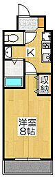 京都烏丸保枠ビル[708号室]の間取り