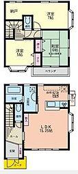 [テラスハウス] 神奈川県藤沢市鵠沼藤が谷4丁目 の賃貸【/】の間取り