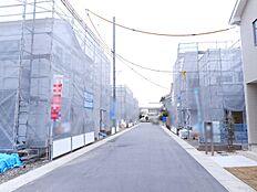 開発分譲地内ですので車通りが少なく静かな環境。(2018年1月初旬撮影)