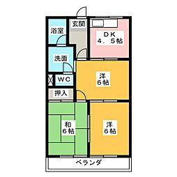 メゾンエクセル[1階]の間取り