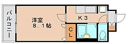 サークルフロント[3階]の間取り