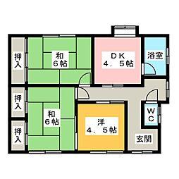 [一戸建] 三重県松阪市大口町 の賃貸【/】の間取り