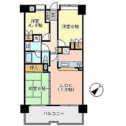 平尾駅前パークホームズ[11階]の間取り