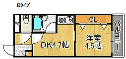 りんくうりんくす[2階]の間取り