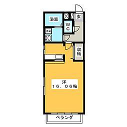 テクノコーポ11[2階]の間取り
