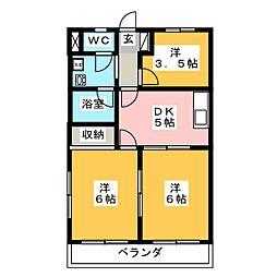にしき今泉新町ハイツIII[2階]の間取り