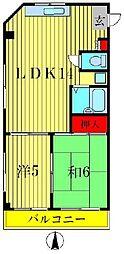 メゾンレピドール[2階]の間取り