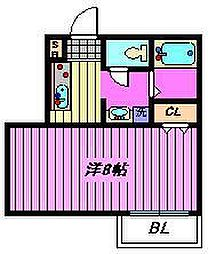 ロイヤルパイン土呂[2階]の間取り