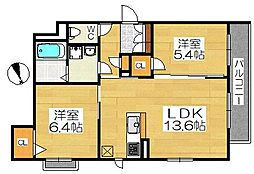 仮称堺市堺区シャーメゾン五月町[2階]の間取り