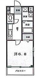 ウエストコート西山 bt[305kk号室]の間取り