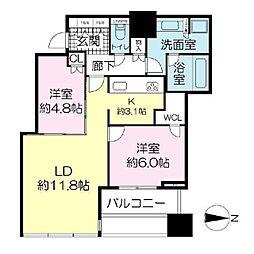 シティタワー大阪天満 ザ・リバー&パークス[5階]の間取り