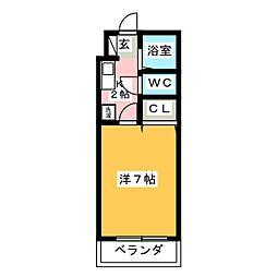 シャトー天神弐番館[3階]の間取り