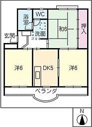 ハイネスハイツ稲垣[2階]の間取り