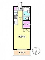 東京都八王子市大横町の賃貸マンションの間取り