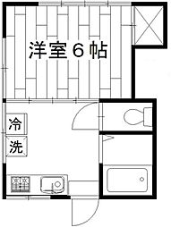 東京都杉並区上高井戸2丁目の賃貸アパートの間取り