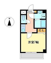 エクセレント名駅東[7階]の間取り