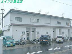 三重県桑名市長島町十日外面の賃貸アパートの外観