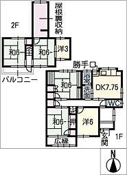 [一戸建] 愛知県あま市木田三町懸 の賃貸【/】の間取り