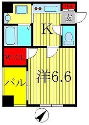 クレストタワー柏[2階]の間取り