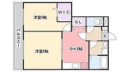 千葉県習志野市藤崎2丁目の賃貸マンションの間取り