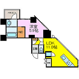SK BUILDING-501[303号室]の間取り