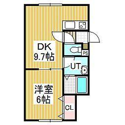 PORTE-BONHEUR[1階]の間取り