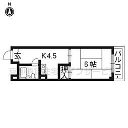 ロイヤルパレス祇園[310号室]の間取り