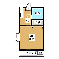 スペースハイツII[2階]の間取り