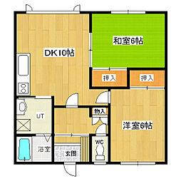 めぐみマンション2[101号室]の間取り