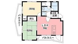 ドミール大森C棟[2階]の間取り