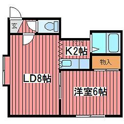 クヴァルチーラ53[3階]の間取り