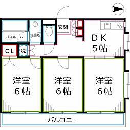 ロイヤルハウスK-TWO[2階]の間取り