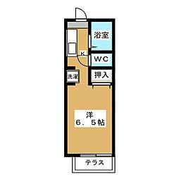 フレグランス衣笠[1階]の間取り