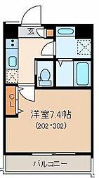 東京メトロ丸ノ内線 茗荷谷駅 徒歩7分の賃貸マンション 3階1Kの間取り