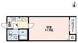 仙台市営南北線 長町南駅 徒歩8分の賃貸アパート 3階1Kの間取り