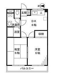 第3ゴージャスライフマンション[203号室]の間取り