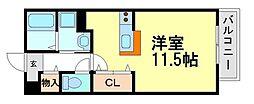 パークサイド・マ・メゾン[2階]の間取り