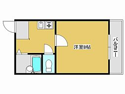 JR加古川線 社町駅 バス18分 松沢下車 徒歩4分の賃貸マンション 2階1Kの間取り