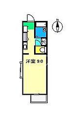 フォブール岡林 B棟[1階]の間取り