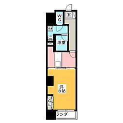 POWERHOUSE the residence 5階1DKの間取り