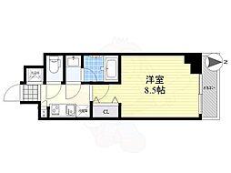 LUMEED CUBE 菊川 PREMIUM 4階1Kの間取り