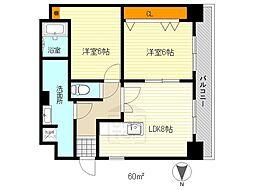ハイツ江坂[3階]の間取り