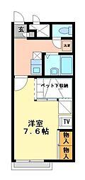 兵庫県相生市赤坂2丁目の賃貸アパートの間取り