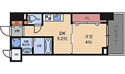 エレガントレジデンス中之島[3階]の間取り