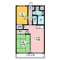 ドルチェ二番館[2階]の間取り