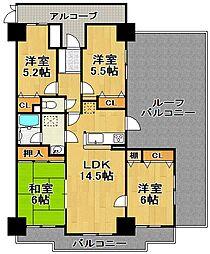 埼玉県深谷市上野台の賃貸マンションの間取り