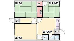 [一戸建] 兵庫県加古川市加古川町中津 の賃貸【/】の間取り